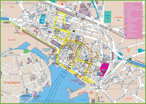 tourist map of tourist map toulon tourist map travel maps and major