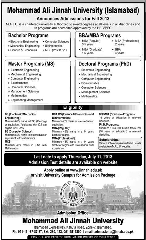 Bs Mba Ms by Maju Admission 2018 Bs Bba Ms Mba Phd Progam Islamabad Karachi