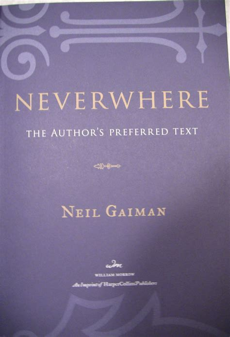 libro neverwhere authors preferred text neverwhere the author s preferred text