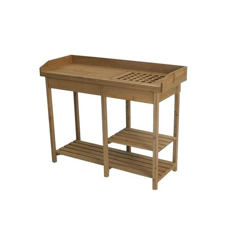 algreen potting bench table 320041 the home depot