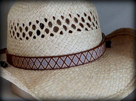 beaded hat bands for cowboy hats western cowboy hat band peyote stitch delica by