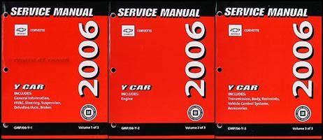 online service manuals 2006 chevrolet corvette auto manual 2006 chevrolet corvette repair shop manual original 3 volume set