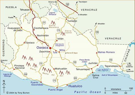 oaxaca mexico map clickable interactive map of oaxaca state mexico oaxaca escondido mitla