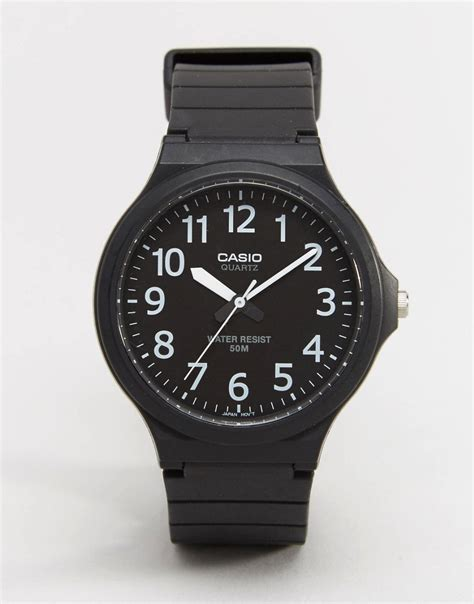 casio casio with 50m water resist function at asos