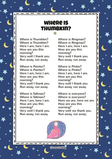 row your boat poem lyrics where is thumbkin love to sing