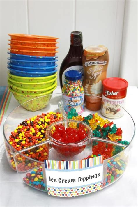 toppings for ice cream bar ice cream toppings hey hey it s my birthday pinterest