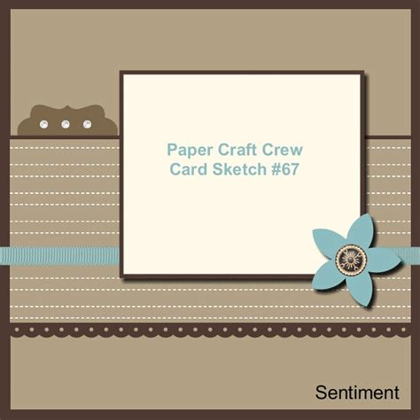 paper craft card pcccs 67 card sketch paper craft crew challenges