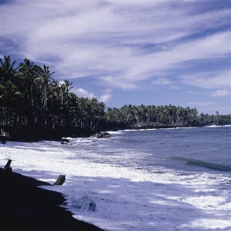 beaches with black sand black sand beaches in hawaii usa today