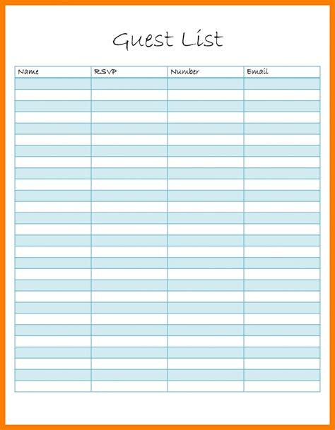 Rsvp List Template 13 rsvp list template xavierax