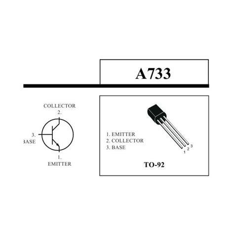 transistor pnp a733 a733 transistor pnp 50v 100ma to 92 nte290a la electronica colombia
