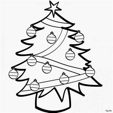 arbol de navidad para calcar dibujos de navidad para colorear