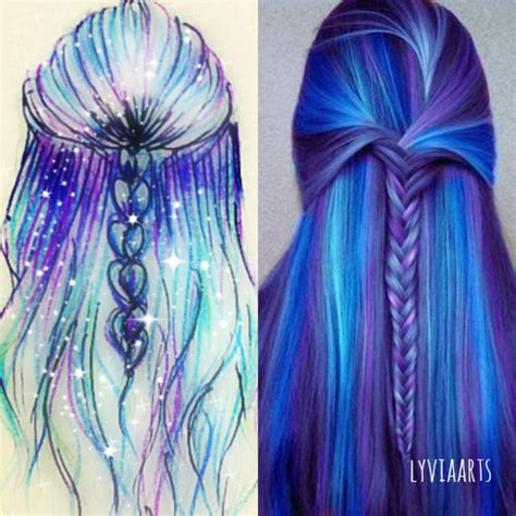 hairstyles color drawing art desenho dibujo draw drawing hair color magic