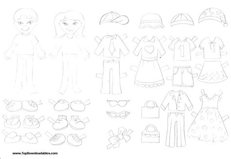 paper dress up dolls template printable paper dolls cut outs free dress up doll