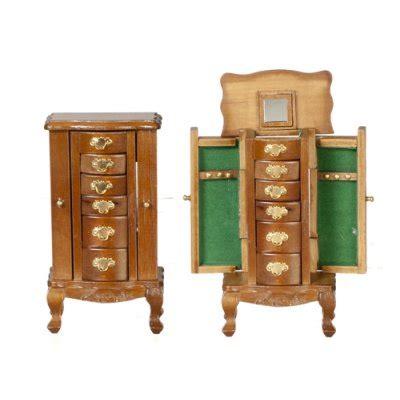 dollhouse jewelry cabinet walnut jewelry cabinet s dollhouse miniature