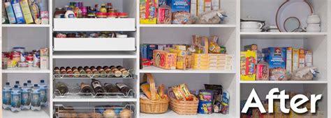 after new pantry organization system organization process