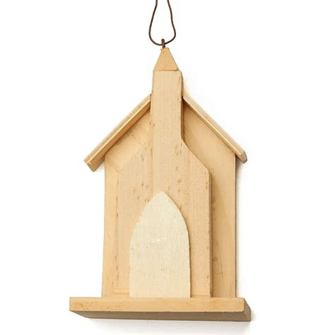 unfinished wooden ornaments unfinished wood church house ornament on sale craft