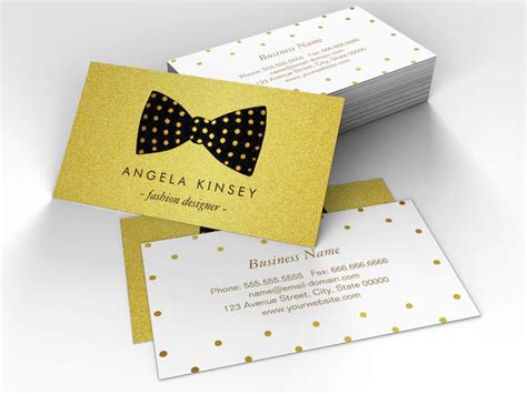Gold Fashion Stylist Business Card Template by The Gallery For Gt Fashion Stylist Business Card Templates
