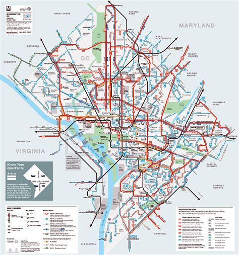 usa map routes detailed metrobus route map of washington d c