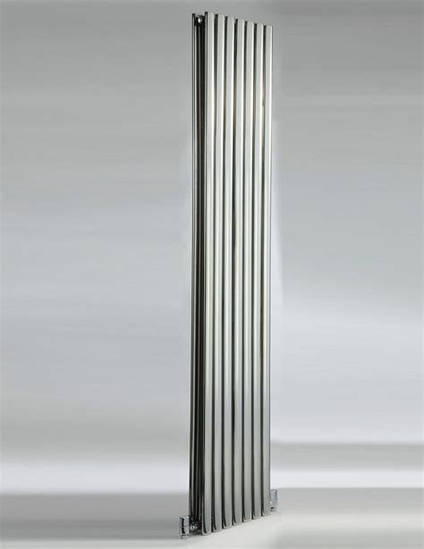 stainless steel radiators elevato vertical brushed dq heating cove 413 x 1800mm stainless steel double