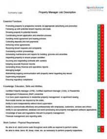 Description For Property Manager by Property Management Descriptions