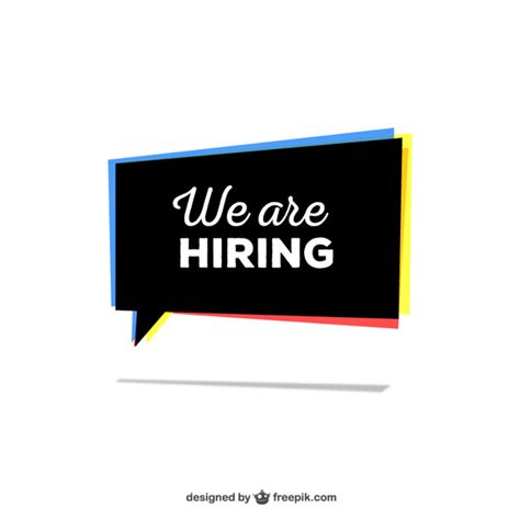 Free Is Hiring by We Are Hiring Sign Vector Free