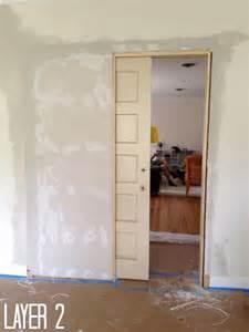 Build Closet Door How To Build A Pocket Door