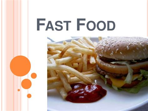 Fast Food Power Point Fast Food Ppt Slides