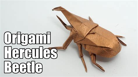 Origami Hercules Beetle - origami hercules beetle jo nakashima funnycat tv