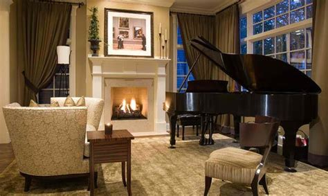 living room with piano 15 grand piano set ups in traditional living rooms home