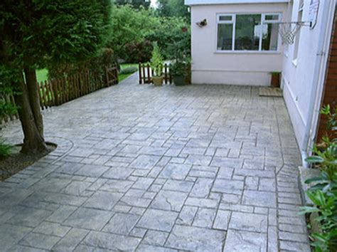 pattern imprinted concrete youtube driveway designs imprinted concrete driveways picture