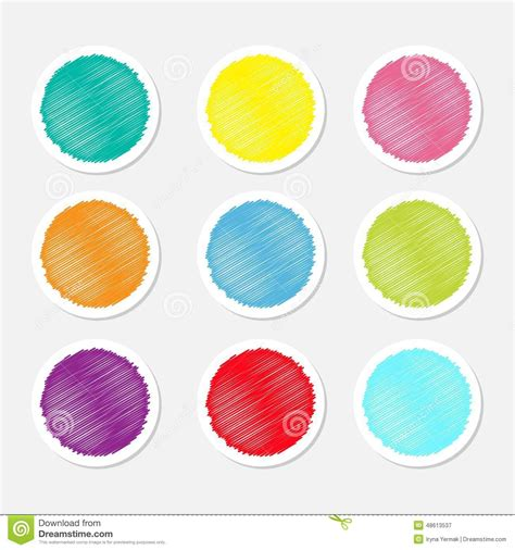 label design round set of blank colorful round label buttons tag sticker for