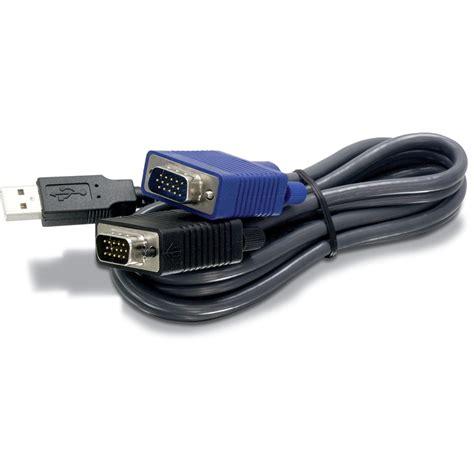Usb Kvm Cable Trendnet Usb Vga Kvm Cable Black 6 Tk Cu06 B H Photo