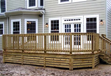 deck railing designs wood images deck pool