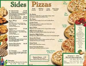 home delivery menu of papa johns pizzas honolulu oahu hawaii menu at papa s pizza