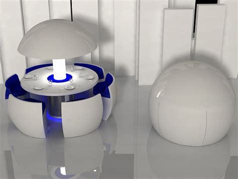 intelligent furniture products high tech circular kitchen futuristic furniture and conceptual contraptions design