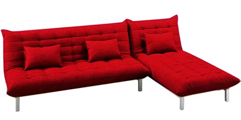 red l shaped couch buy madison l shaped sofa bed in red colour by furny