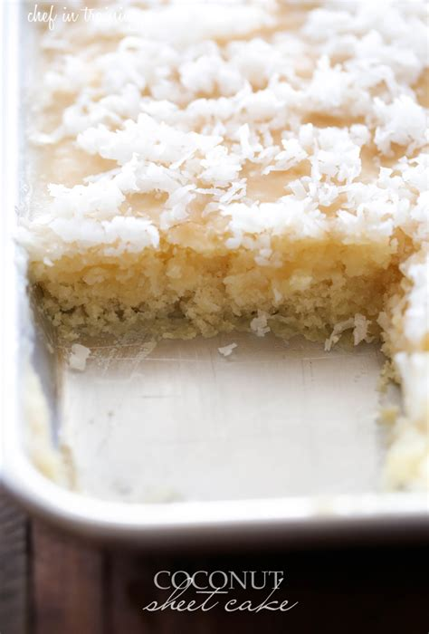 coconut cake recipe coconut sheet cake chef in training
