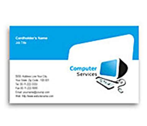 Computer Service Business Card Template by Business Card Design For Computer Hardware Solution Offset
