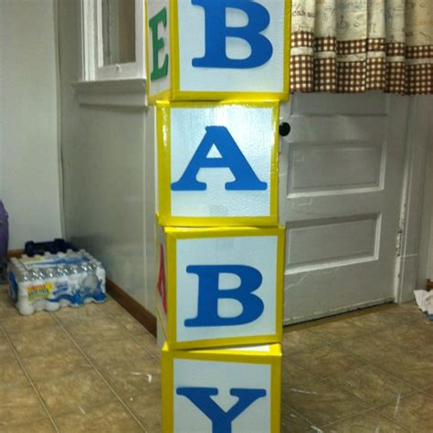 baby blocks out of cardboard baby shower ideas