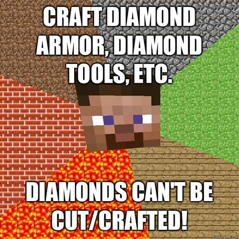 Diamond Meme - minecraft diamond sword pvp memes