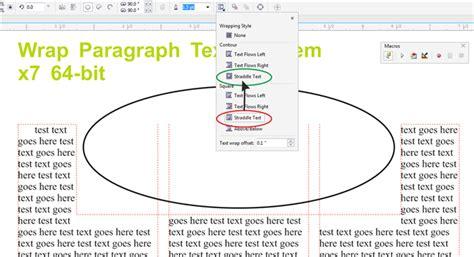 how to curve text in coreldraw x5 paragraph text flow around curve in x7 coreldraw x7