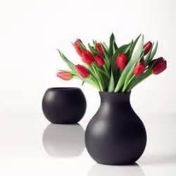 Black Vase With Flowers Porcelain Decorative Flower Vases Unusual Flower Vase