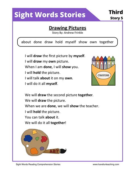 Reading Worksheets by Reading Comprehension Worksheet Drawing Pictures