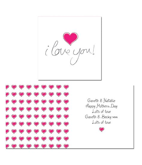 I Love Gift Cards - personalised i love you card just for gifts
