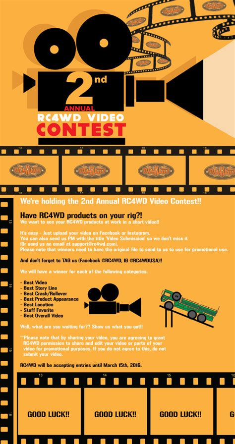 Video Sweepstakes - rc4wd 2nd annual video contest