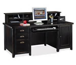 distressed office furniture black finish stylish home office deskstoragesfurniture