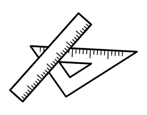 imagenes de reglas matematicas dibujo de escuadra y regla para colorear dibujos net