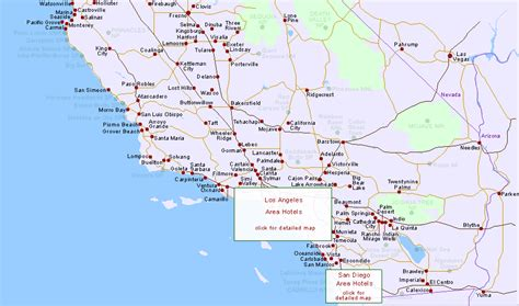 california map and south south central california hotels