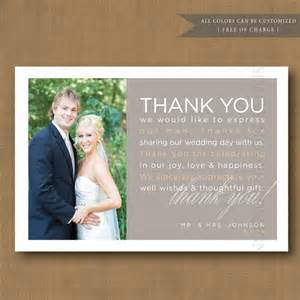 thank you for wedding gift wording wedding wedding thank you cards and etsy on