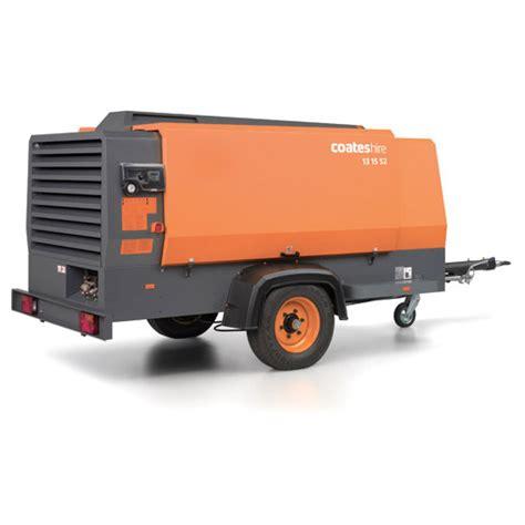 portable air compressor hire rental 250 to 600 cfm